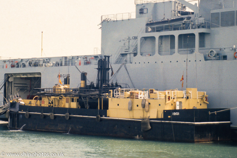 1901(TCL) pictured in Portsmouth Naval Base on 11th June 1989