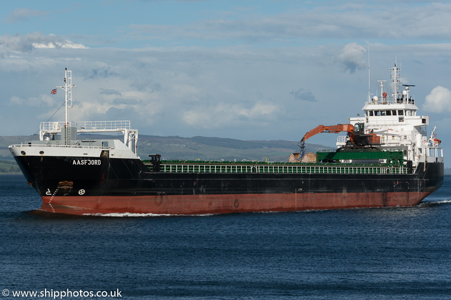Aasfjord pictured passing Greenock on 5th June 2015