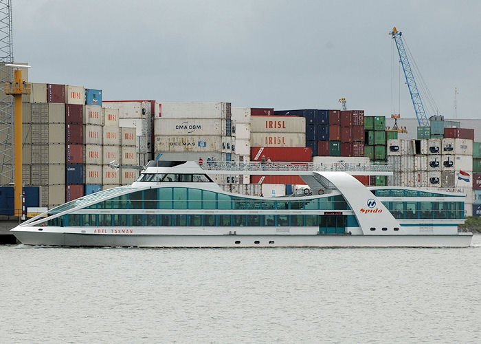 Abel Tasman pictured on the Nieuwe Maas at Rotterdam on 20th June 2010
