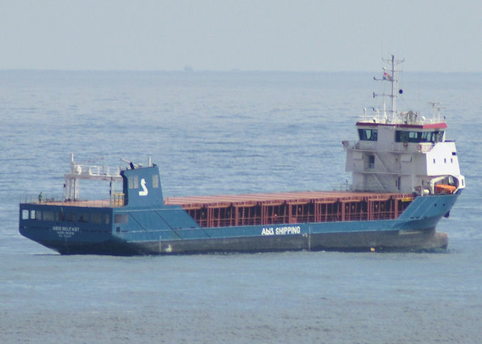 Abis Belfast pictured at anchor off Tynemouth on 6th June 2011