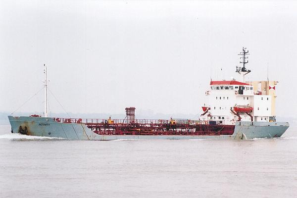 Activity pictured on the River Mersey on 7th July 2001