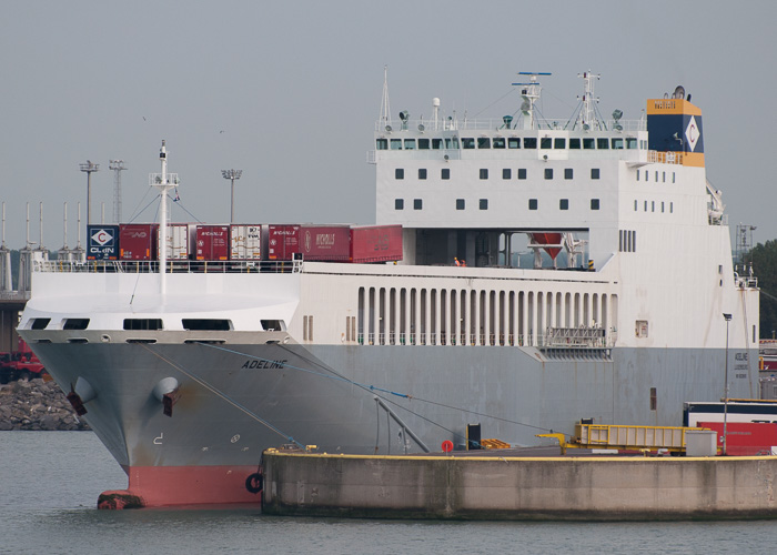 Adeline pictured at Zeebrugge on 19th July 2014