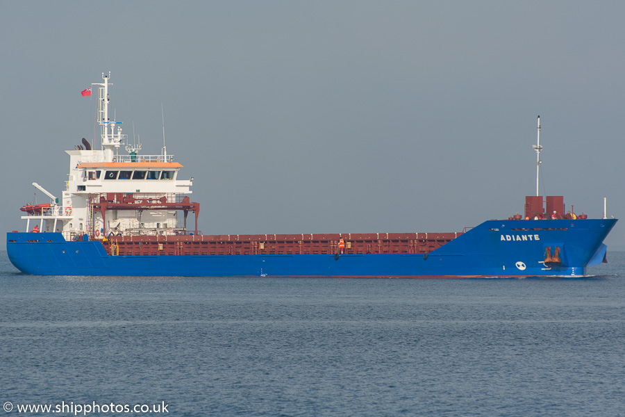 Adiante pictured passing Greenock on 17th October 2015