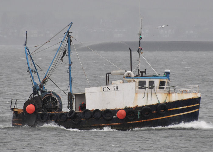 Adoration II pictured passing Greenock on 3rd May 2013