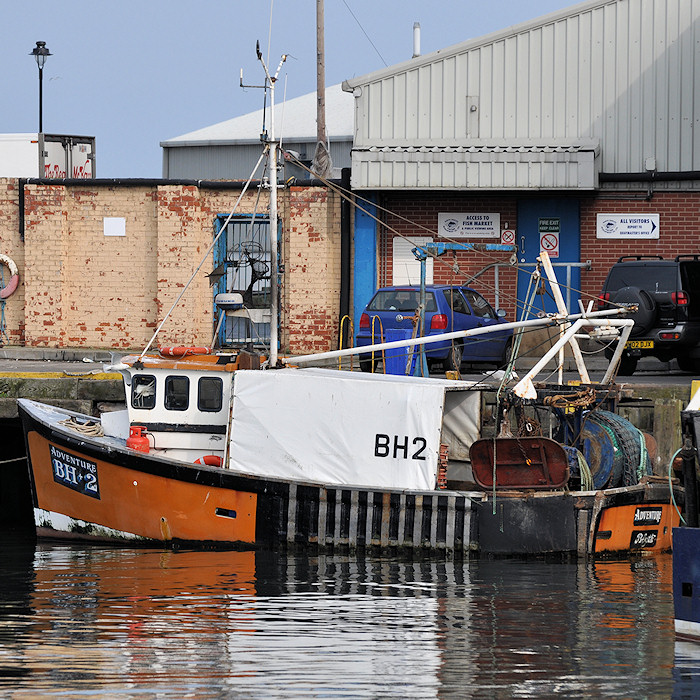 Adventure pictured at the Fish Quay, North Shields on 23rd March 2012