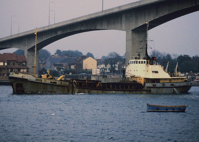 Afan pictured arriving at Southampton on 21st April 1990