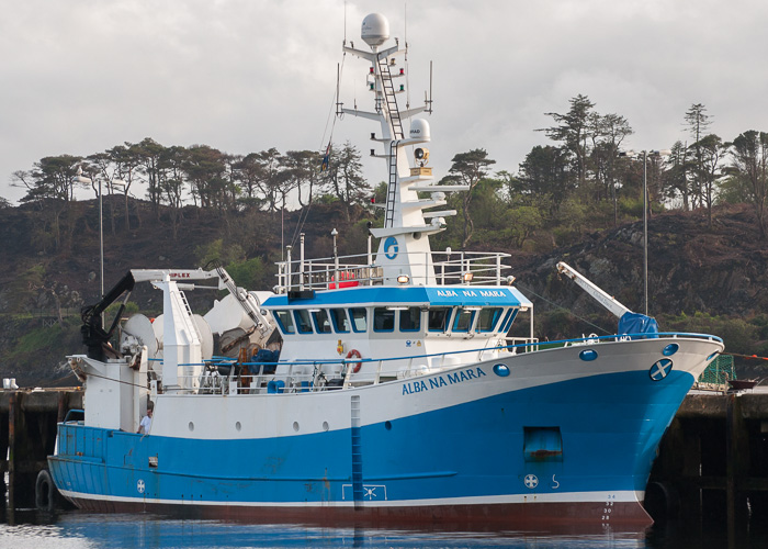 Alba Na Mara pictured at Stornoway on 8th May 2014