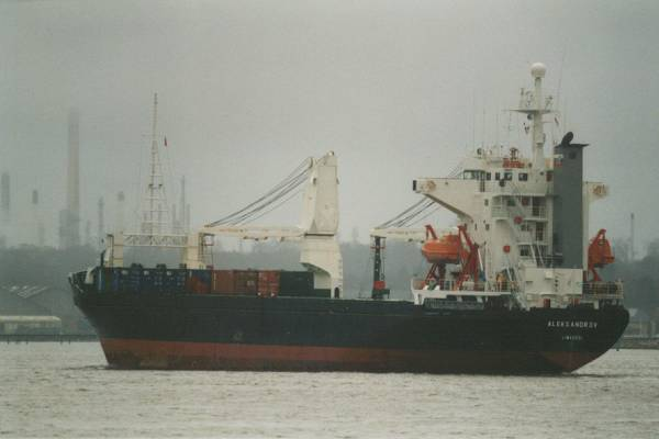 Aleksandrov pictured departing Southampton on 20th January 1999