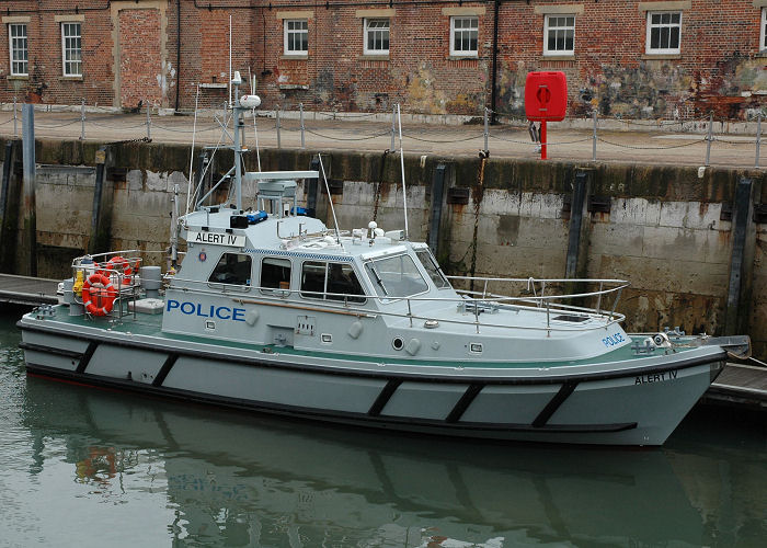 Alert IV pictured in Portsmouth Naval Base on 3rd July 2005