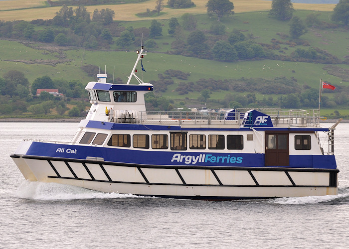 Ali Cat pictured departing Gourock on 5th June 2012