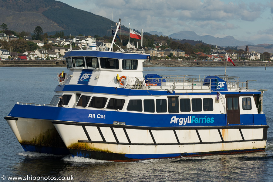 Ali Cat pictured arriving at Dunoon on 10th October 2016