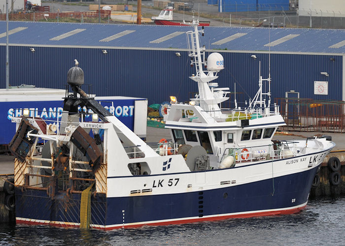 Alison Kay pictured at Lerwick on 10th May 2013