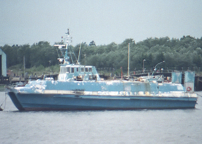 Alisur Asul pictured laid up in Southampton on 28th July 1988