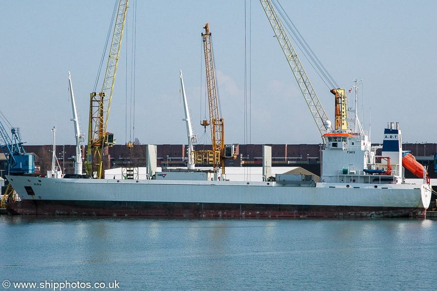 Alma pictured in Portsmouth on 26th March 2005