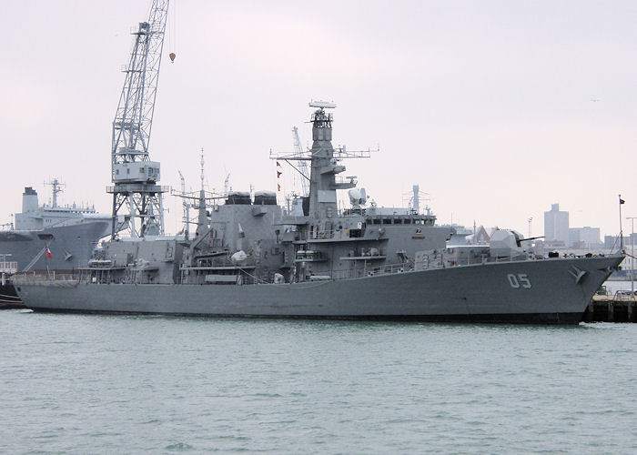 Almirante Cochrane pictured in Portsmouth on 8th September 2007