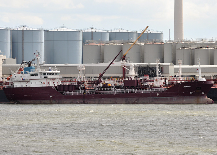 Alora pictured departing 1e Petroleumhaven, Rotterdam on 23rd June 2012
