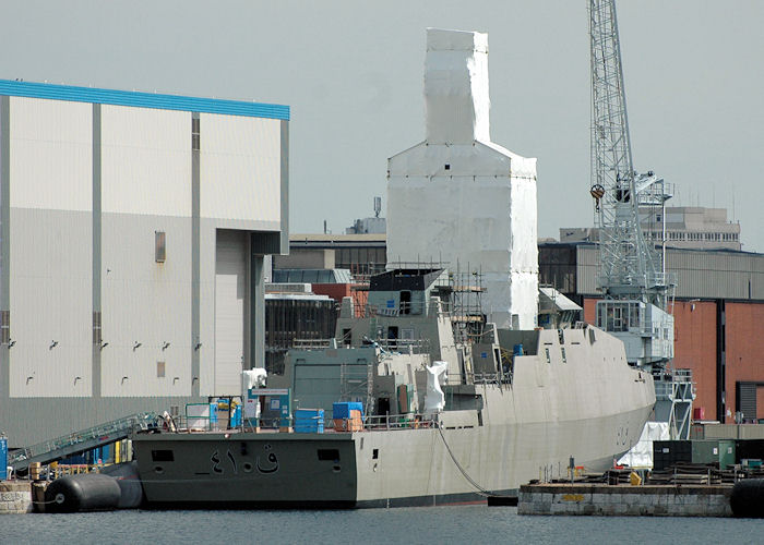 Al Rahmani pictured fitting out in Portsmouth Naval Base on 14th August 2010