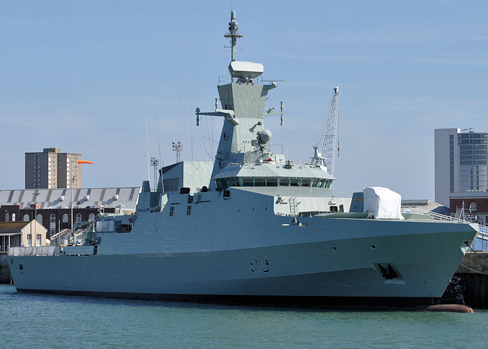 Al Rahmani pictured in Portsmouth Naval Base on 8th June 2013