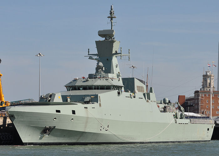 Al Shamikh pictured in Portsmouth Naval Base on 8th June 2013