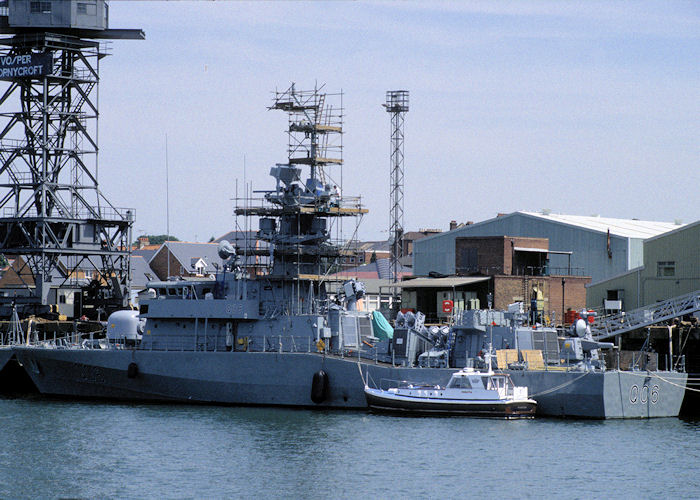 Al Udeid pictured fitting out at Woolston on 21st July 1996