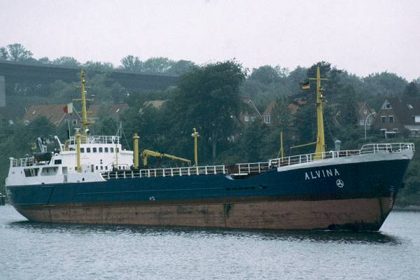 Alvina pictured at Holtenau on the Kiel Canal on 28th May 1998
