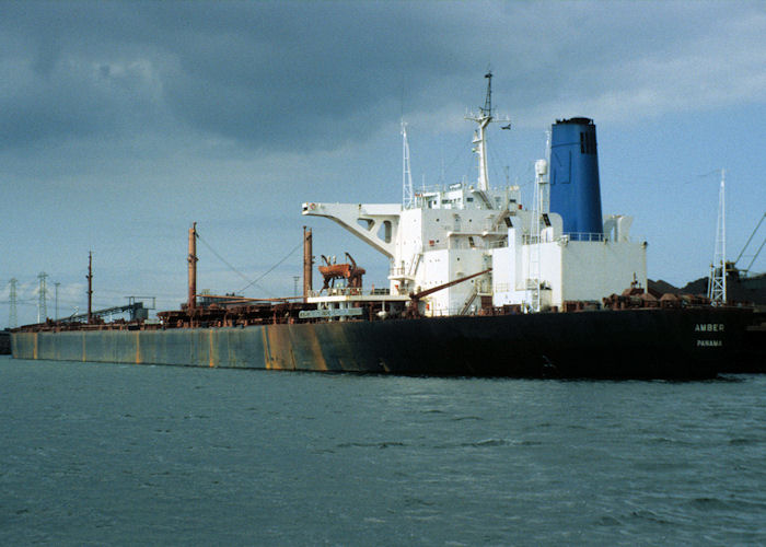 Amber pictured in Mississippihaven, Europoort on 20th April 1997
