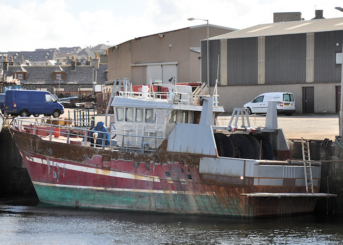 Amity II pictured undergoing refit at Macduff on 15th April 2012