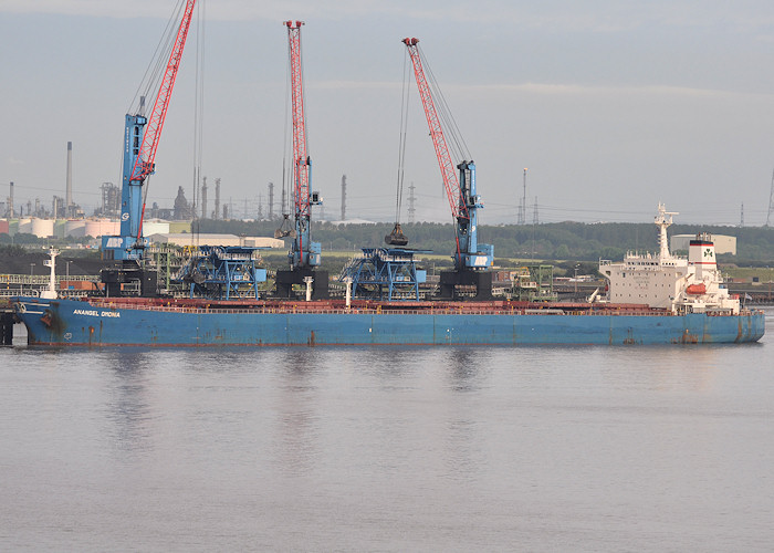 Anangel Omonia pictured at Humber International Terminal, Immingham on 27th June 2012