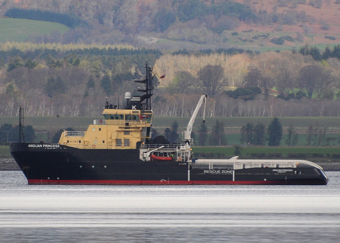 Anglian Princess pictured in Cromarty Firth on 11th April 2012