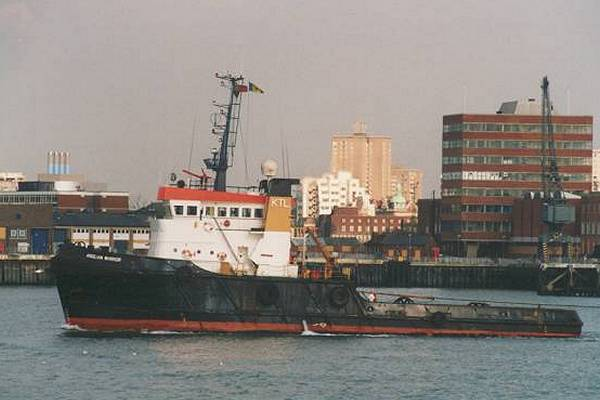 Anglian Warrior pictured arriving in Portsmouth on 2nd April 1996