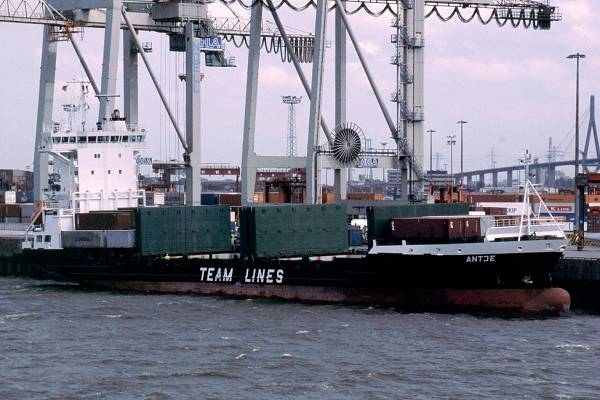Antje pictured in Hamburg on 29th May 2001