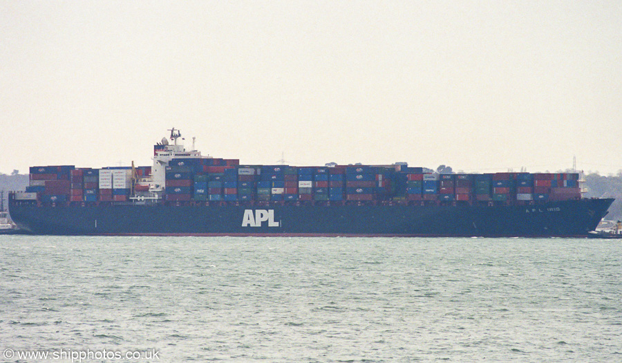 APL Iris pictured in the Solent on 17th August 2003