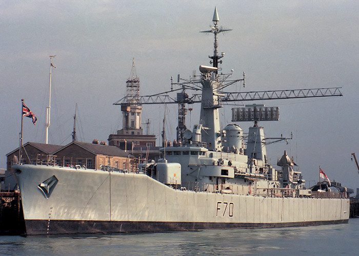 Apollo pictured in Portsmouth Naval Base on 3rd October 1987