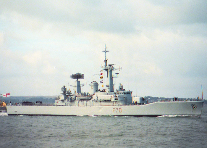 Apollo pictured approaching Portsmouth Harbour on 29th July 1988
