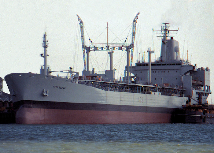 Appleleaf pictured in Portsmouth Naval Base on 26th March 1988