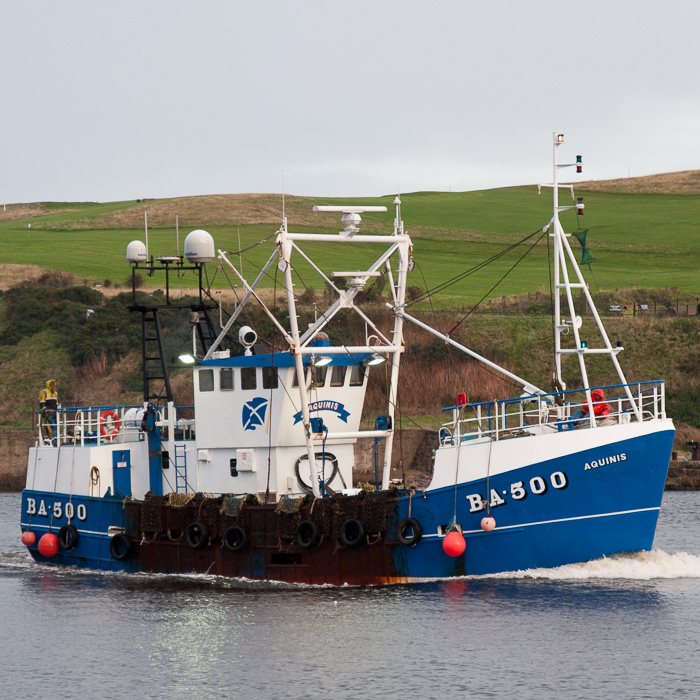 Aquinis pictured arriving at Aberdeen on 12th October 2014