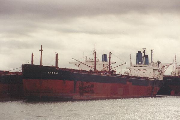 Ararat pictured laid up on Southampton Water on 16th August 1992