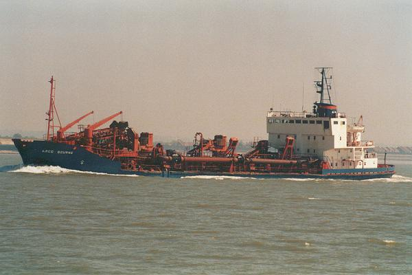 Arco Bourne pictured on the River Thames on 12th May 2001