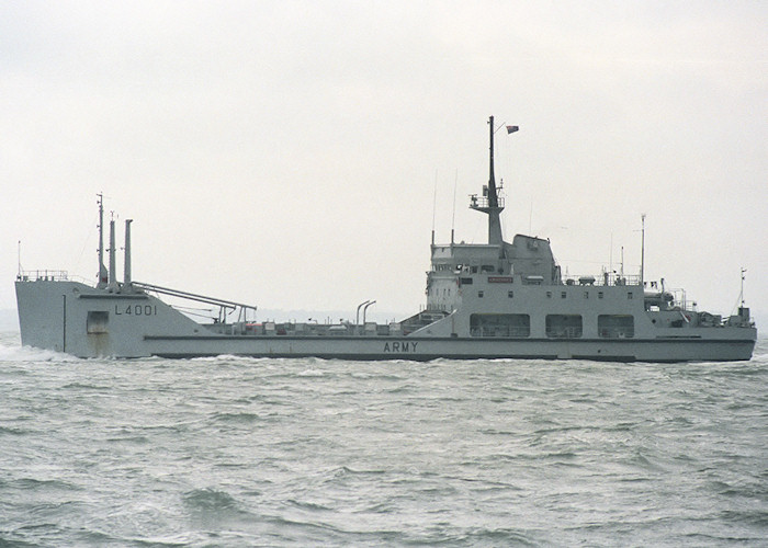 Ardennes pictured departing Portsmouth Harbour on 10th July 1988