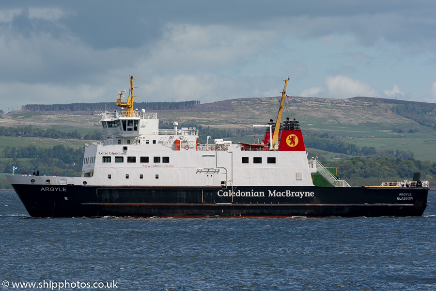 Argyle pictured passing Greenock on 7th June 2015