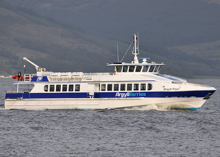 Argyll Flyer pictured approaching Gourock on 24th September 2011