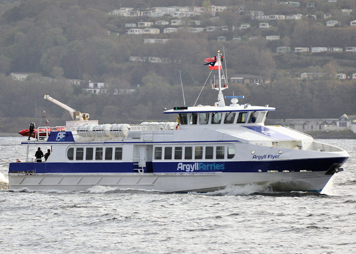 Argyll Flyer pictured approaching Dunoon on 26th September 2011