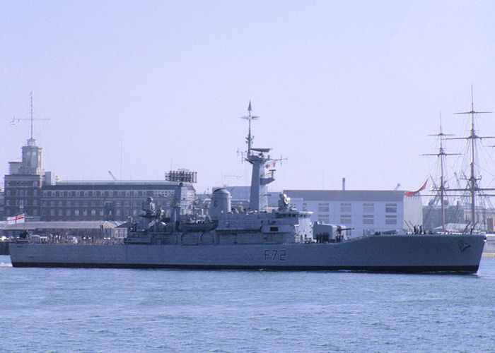Ariadne pictured departing Portsmouth Harbour on 29th July 1991