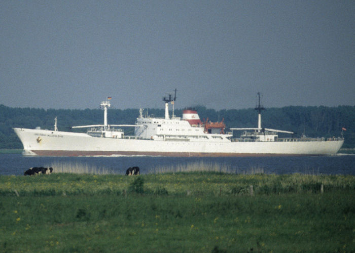 Aristarhs Belopolskis pictured on the River Elbe on 6th June 1997