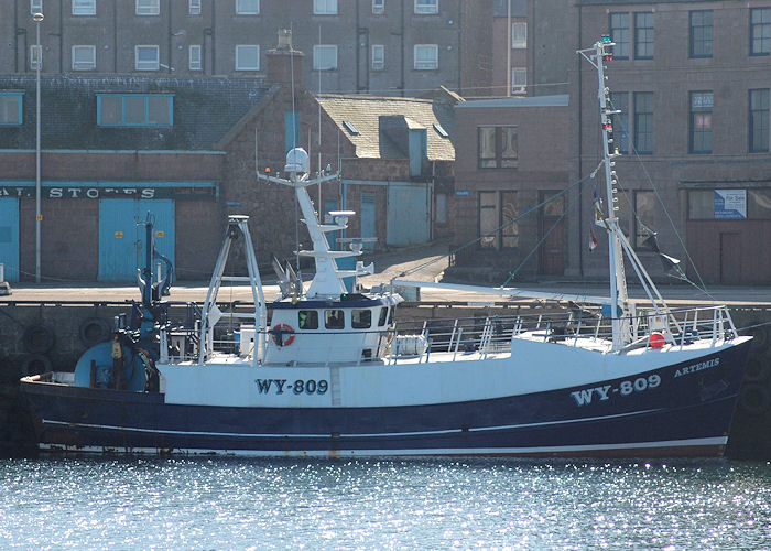 Artemis pictured at Peterhead on 28th April 2011