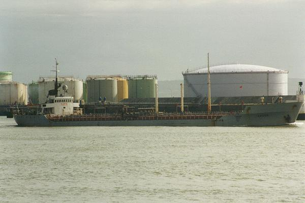 Arvor pictured departing Le Havre on 6th March 1994