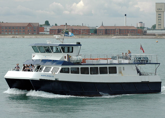 Ashleigh R pictured in the Solent on 14th August 2010