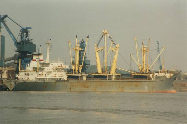 Aspasia L pictured at Thames Refinery, Silvertown on 13th May 1998