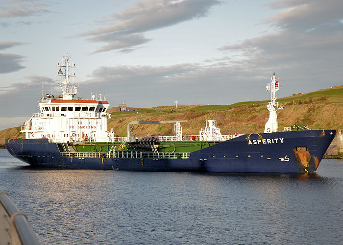 Asperity pictured arriving at Aberdeen on 6th May 2013