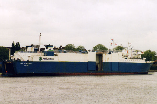 Assi Euro Link pictured at Convoy's Wharf, Deptford on 8th May 1997